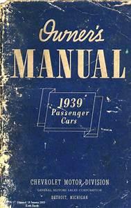 1939 Chevy Owner U0026 39 S Manual