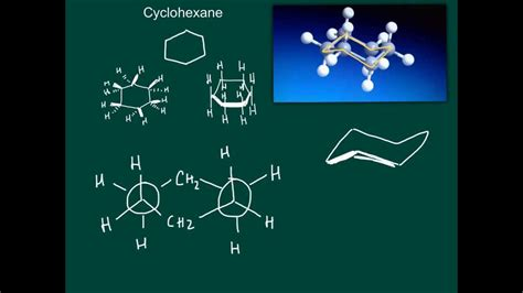 Chair Conformation Of Cyclohexane 3d by How To Draw Cyclohexane Chair Conformation Part 1 3d