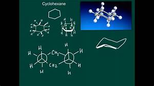 How To Draw Cyclohexane Chair Conformation - Part 1  3d Structure