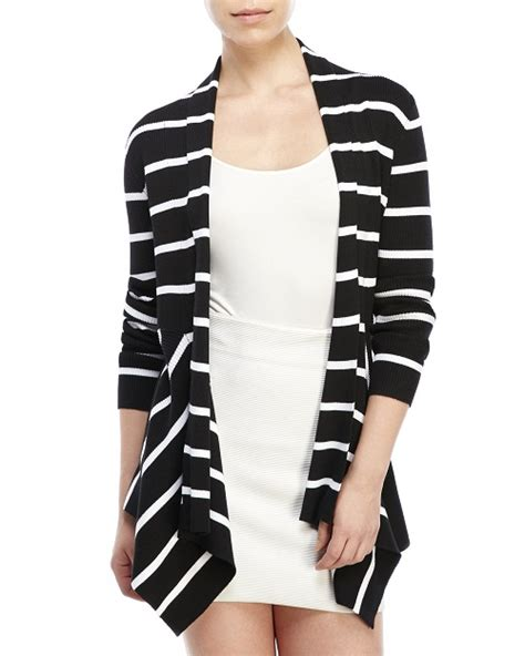 and white striped sweater and black striped cardigan gray cardigan sweater