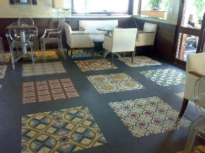 PATCHWORK   OLD SPANISH TILES   ANTIQUE FLOOR   VICTORIAN