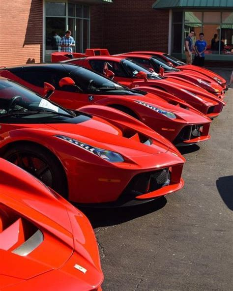 3 LaFerraris an Enzo F50 and F40 #LFSCConcousr2017 # ...