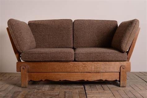 1930's Heals Oak Bed Settee