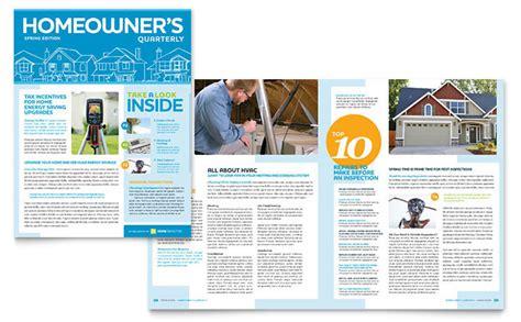 home inspection inspector newsletter template design