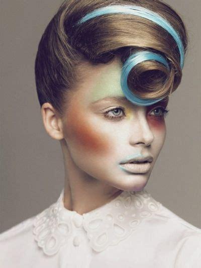 avant garde hairstyles avant garde hairstyle with blue