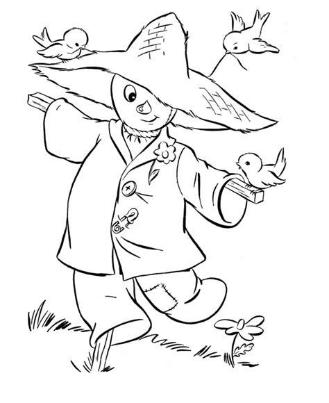 thanksgiving coloring pages funny scarecrow dibujos  colorear pinterest plantillas