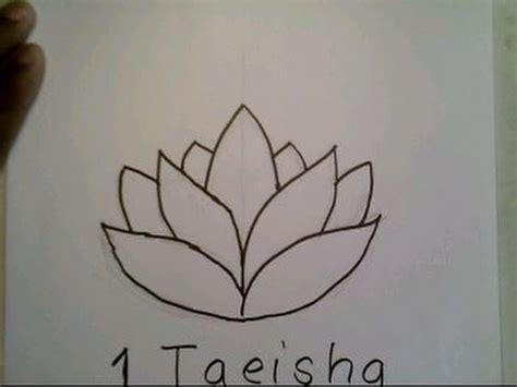 draw  lotus flower easy como dibujar una flor de