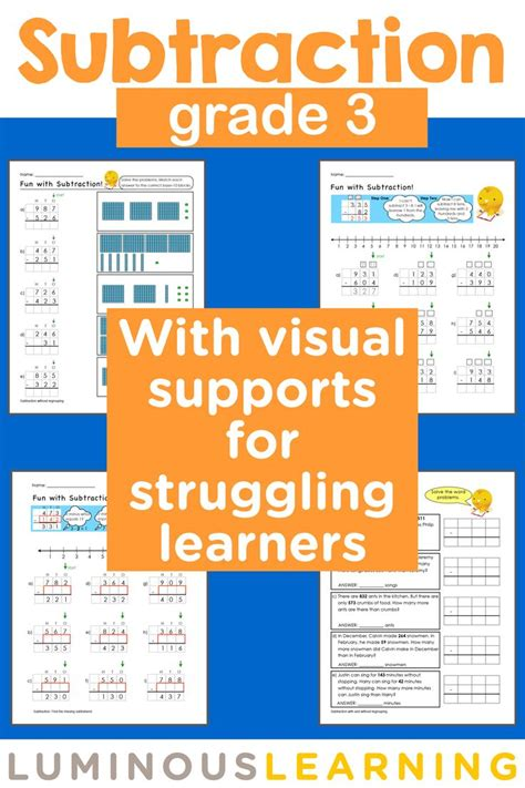 math worksheets for students with learning disabilities