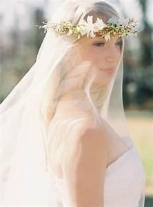 flower-crown-wedding-veil - Once Wed