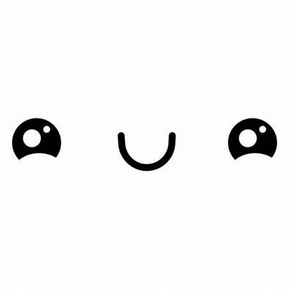 Kawaii Happy Emoticon Feliz Faces Transparent Svg