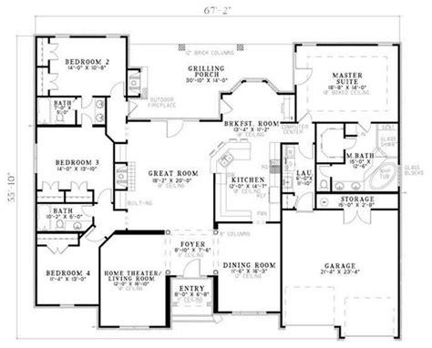Split Bedroom Floor Plan by I This Floor Plan The Split Bedrooms Outdoor