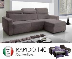canape d39angle reversible rapido sidney 140 cm coffre With canape angle microfibre taupe
