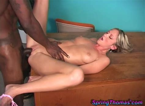 Spring Thomas Loves To Fuck With Her Black Lover In Front