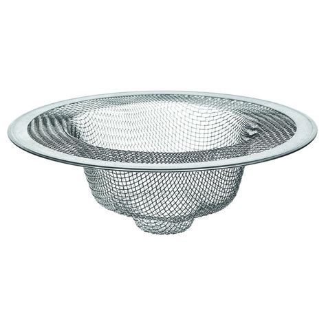 kitchen sink mesh strainer 4 1 2 in mesh kitchen sink strainer in stainless steel 5858