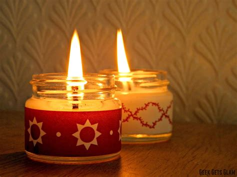 make christmas candles easy diy christmas candles with 24daysofwren geek gets glam