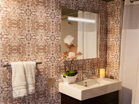 Modern Bathroom Wallpaper by Midcentury Modern Bathroom Photos Hgtv