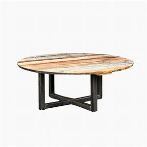 Buy a hand made weathered reclaimed wood round coffee for Round weathered coffee table