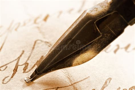 Ancient Letter And Ink Pen Stock Photo. Image Of Letter