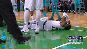 Boston Celtics guard Kyrie Irving exits game with head ...