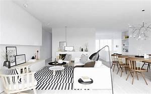 Tapis Noir Et Blanc Scandinave : d co salon scandinave astuces design et id es l gantes ~ Teatrodelosmanantiales.com Idées de Décoration