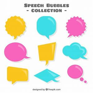 Colored speech bubbles pack Vector   Free Download