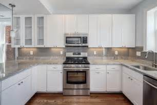 white cabinets grey backsplash kitchen subway tile outlet - White Kitchen Cabinets Backsplash