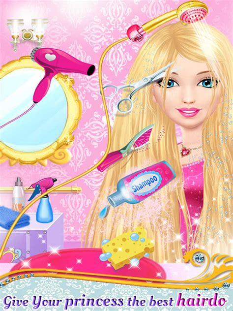 princess hair tattoo salon spa makeover game  girls