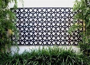 Panneau Décoratif Extérieur : 95 id es pour la cl ture de jardin palissade mur et ~ Premium-room.com Idées de Décoration