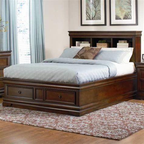 king bookcase platform storage bed kian king storage platform bed walnut king size