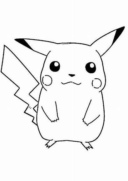 Pokemon Coloring Ausmalbilder Pikachu Printable Number Pokemon