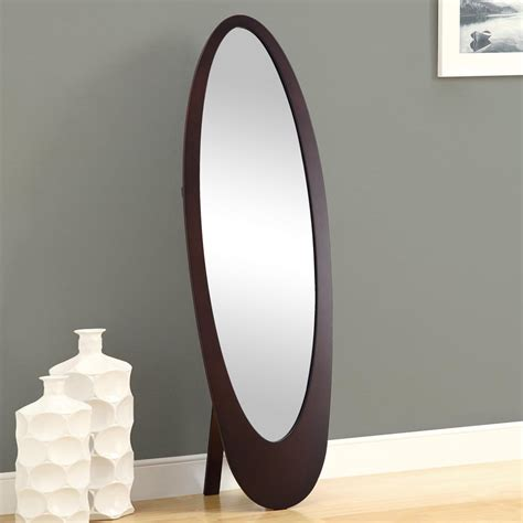 floor mirror oval monarch specialties i 33 oval cheval floor mirror lowe s canada
