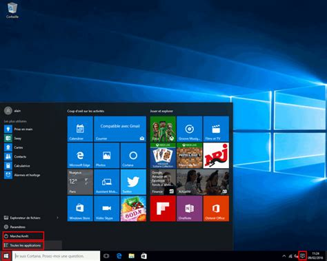 bureau windows windows 10 utilisation présentation aidewindows