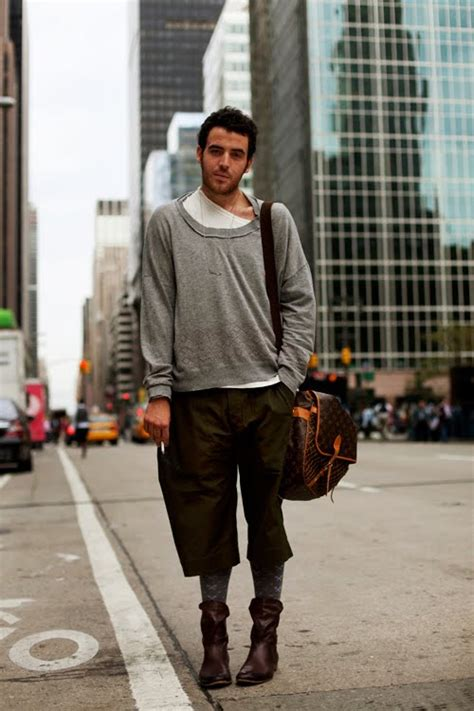 On the Street.Loose Layers With Shorts & Hi Tops, NYC