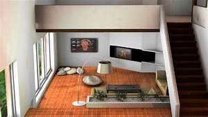 Aménagement D Un Salon : am nagement d 39 un salon projet 3d stinside architecture ~ Zukunftsfamilie.com Idées de Décoration
