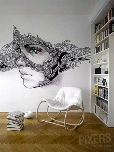 drawing decoration 40 easy wall ideas to decorate your home Wall