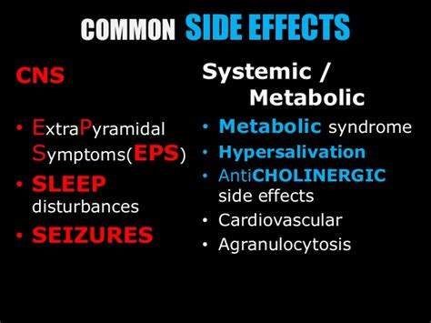 psychotropic medications  side effects