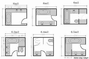 Taille Moyenne Bébé : les salles de bains de taille moyenne 4 5 6 m salle d 39 eau badezimmer badezimmerideen et ~ Nature-et-papiers.com Idées de Décoration
