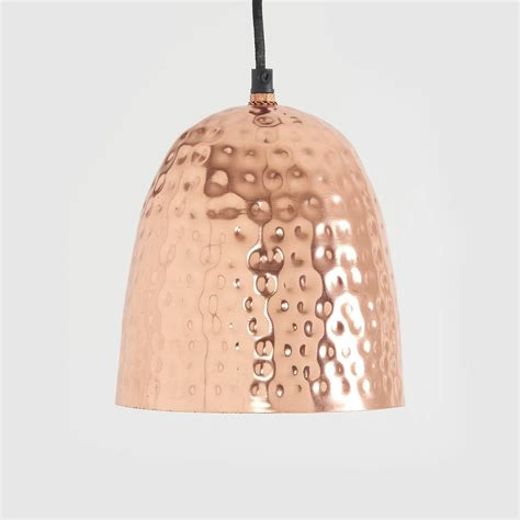 hammered copper pendant light by horsfall wright