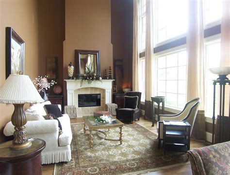 story window treatments living room traditional