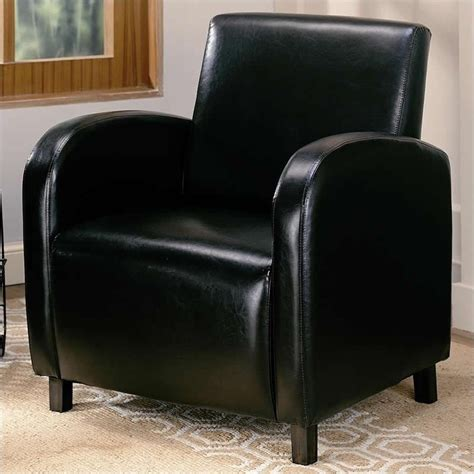 coaster accent faux leather club arm chair in brown 900334