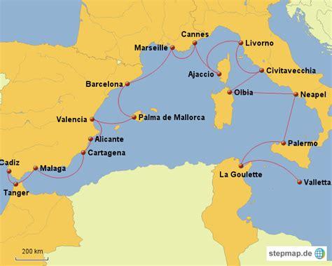 Westliches Mittelmeer Karte