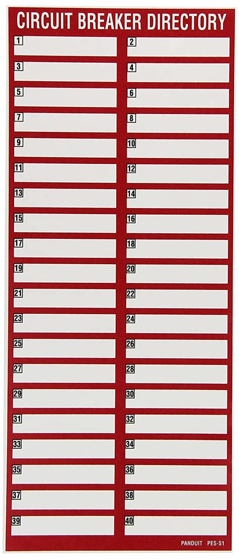 However you can create labels from a template. 30 Free Printable Circuit Breaker Panel Labels | Template Library