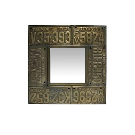 large tin mirrors collection square license plate mirror