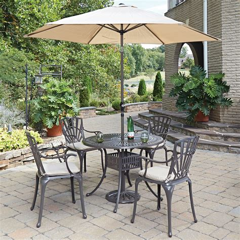 Outdoor Patio Set With Umbrella by Home Styles Largo 6pc Dining Set W Umbrella And Cushions
