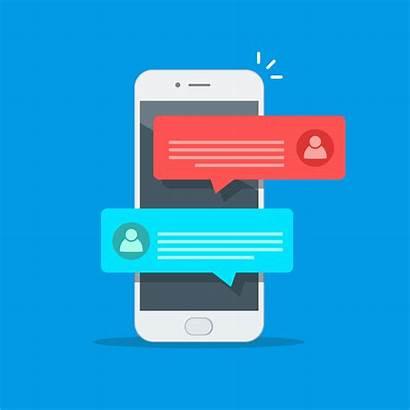 Notification Messages Vector Smartphone Message Text Cartoon
