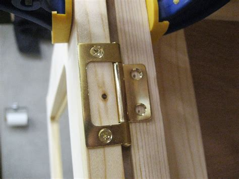 Non Mortise Cabinet Door Hinges by Installing Non Mortise Hinges On Inset Cabinet Doors With