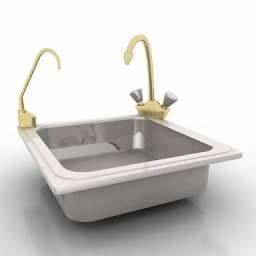 """Kitchen 69"" Interior collection 3D Models Sink3D"