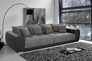 Kunstleder Couch Schwarz : xxl sofa giant lounge kunstleder strukturstoff schwarz couch wohnlandschaft big ebay ~ Watch28wear.com Haus und Dekorationen