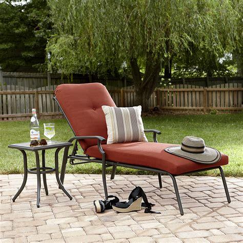 garden oasis brookston chaise lounge terracotta