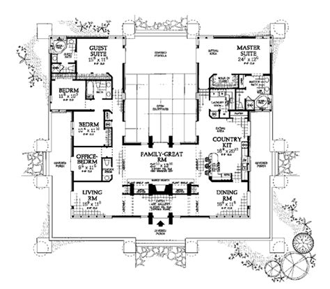 shaped house plans  pool  middle image xgif